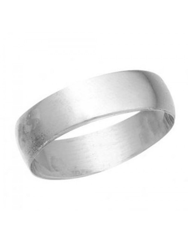 6mm wide Sterling Silver Wedding Band