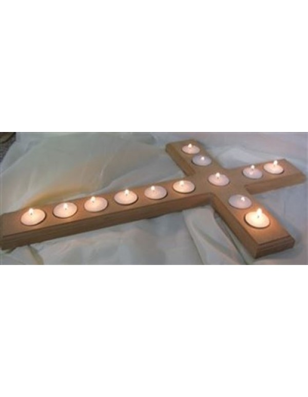 76cm Tea Light Cross Holder