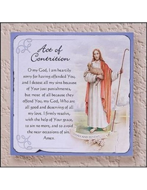 Act of Contrition wall plaque