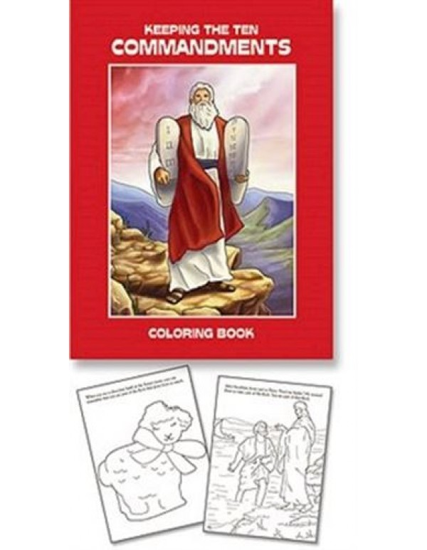 Aquinas Book - Ten Commandments colouring book