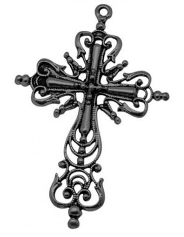 Black Ornate 64mm Cross
