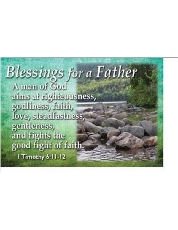 Blessings for a Father Holy Card
