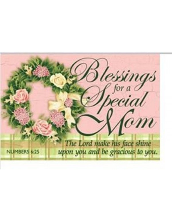 Blessings for a Special Mom Holy Card
