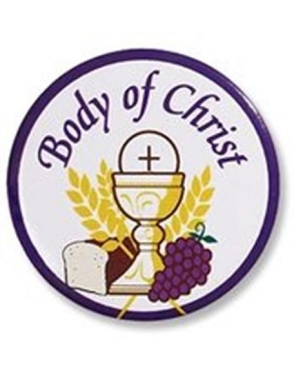 Body of Christ Button Pin