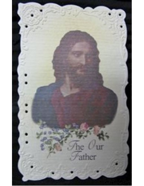 Christ Holy Card Embossed