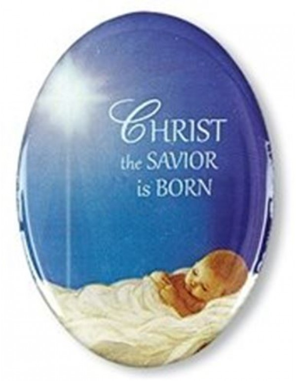 Christ the Saviour is Born Button Pin