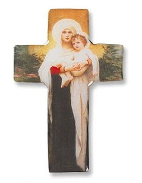 Classic Collection - Madonna & Child Cross Magnet