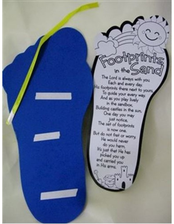 Colour your own Footprints Poem
