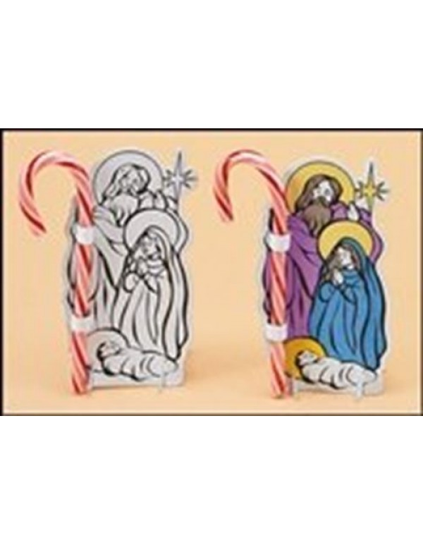 Colour Your Own Holy Family Candy Cane Craft Kit