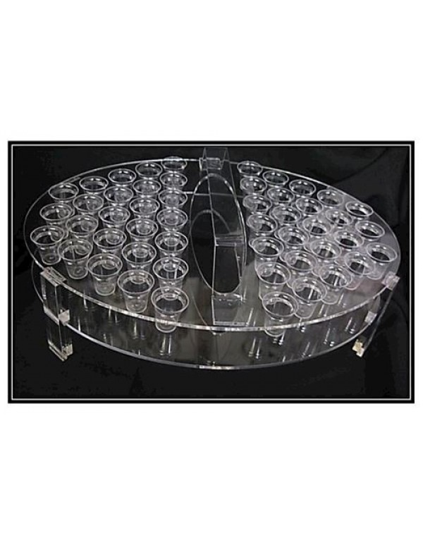 Communion Tray - Perspex - 50 glasses
