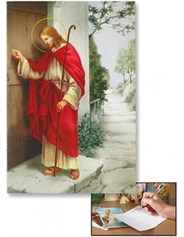 Devotional Blank Greeting Card - Christ Knocking