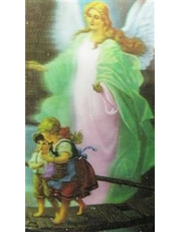 Guardian Angel 3D Holy card
