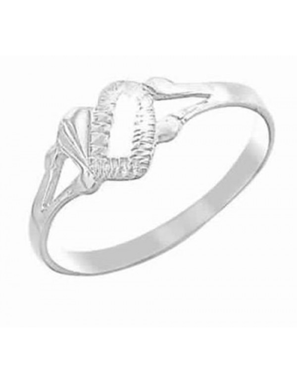 Heart Panel Ring - Sterling Silver - Large