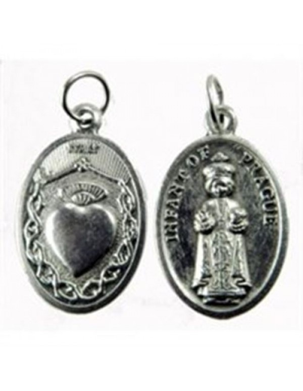 Infant of Prague / Sacred Heart of Jesus medal