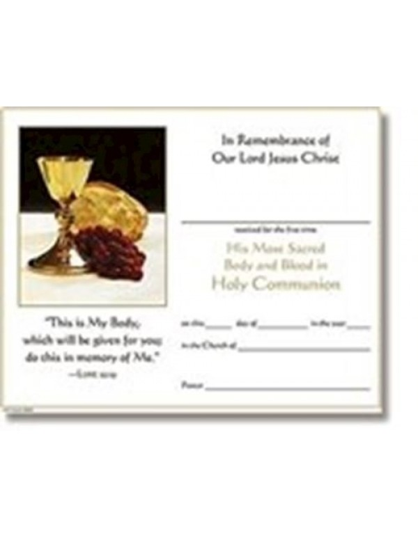 Our Daily Bread - 1st Holy Communion Certificate