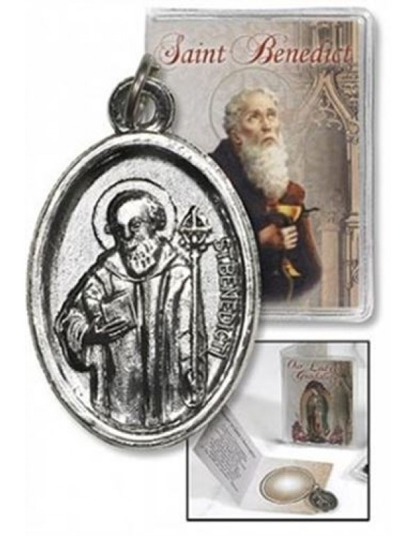St Benedict Medal and Folder with Prayers