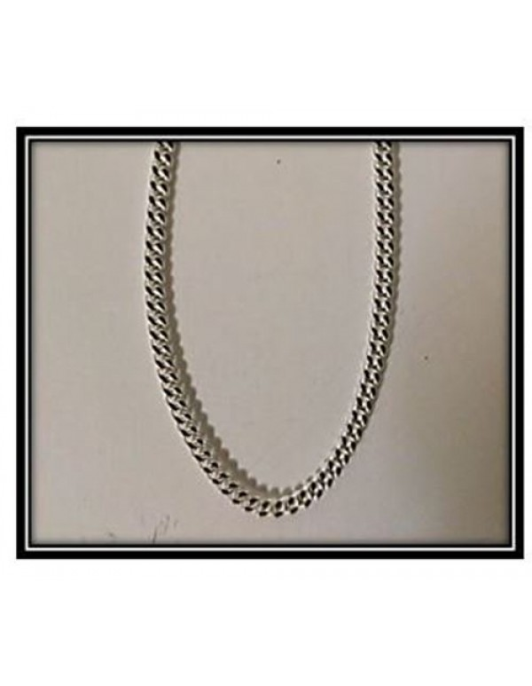 Sterling Silver 1mm Curb link 50cm Chain