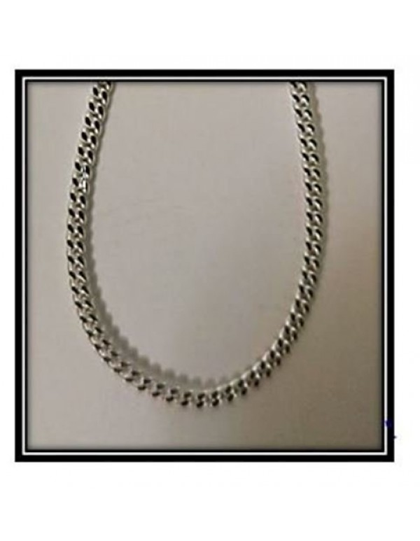 Sterling Silver 55cm Curb Link (2mm Link) Chain