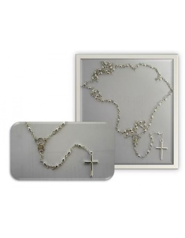Sterling Silver Oval Rosary