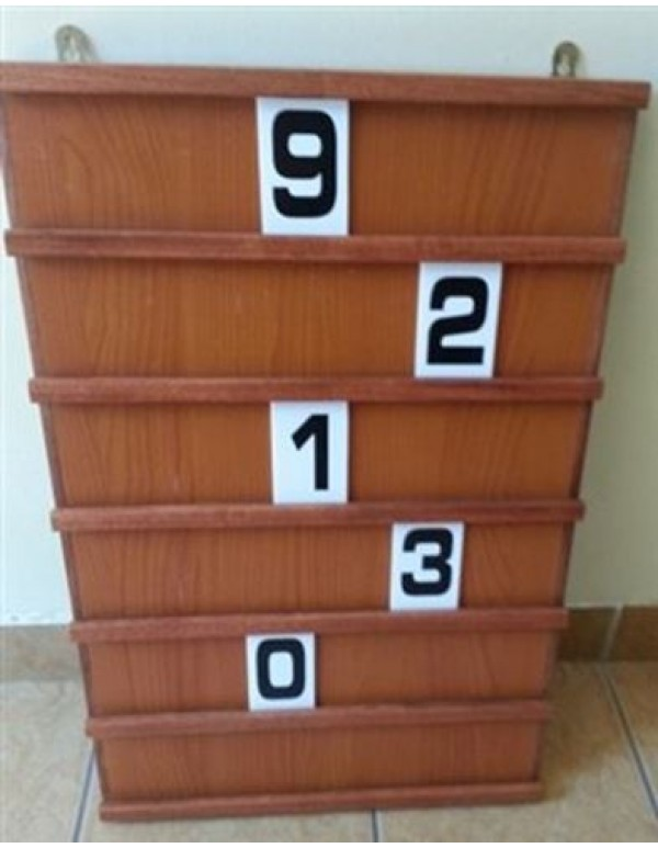 Wooden Hymn Board with numbers