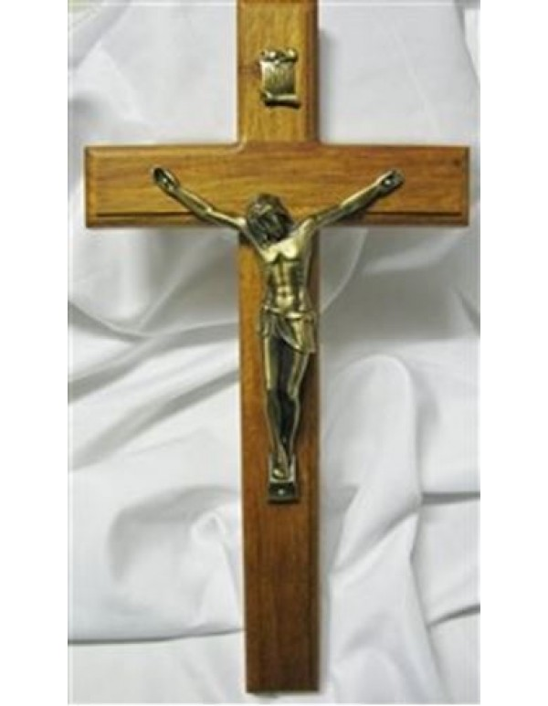 Wooden wall crucifix - 34.5cm