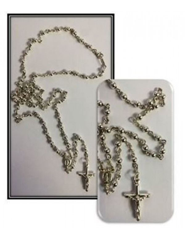 3mm Sterling Silver Rosary - Necklace Rosary