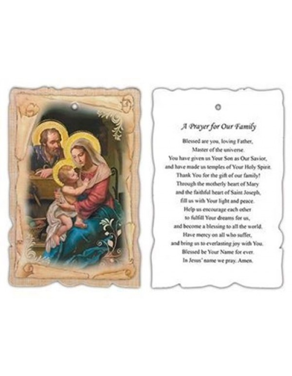 14.5cm Holy Family Wall Plaque