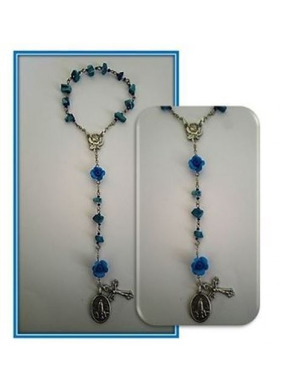 Fatima Chaplet for the Reparation, Conversion & Adoration -  Turquoise & Roses