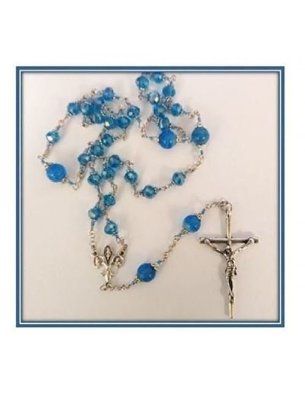 The Anglican Rosary - Blue Austrian Crystal