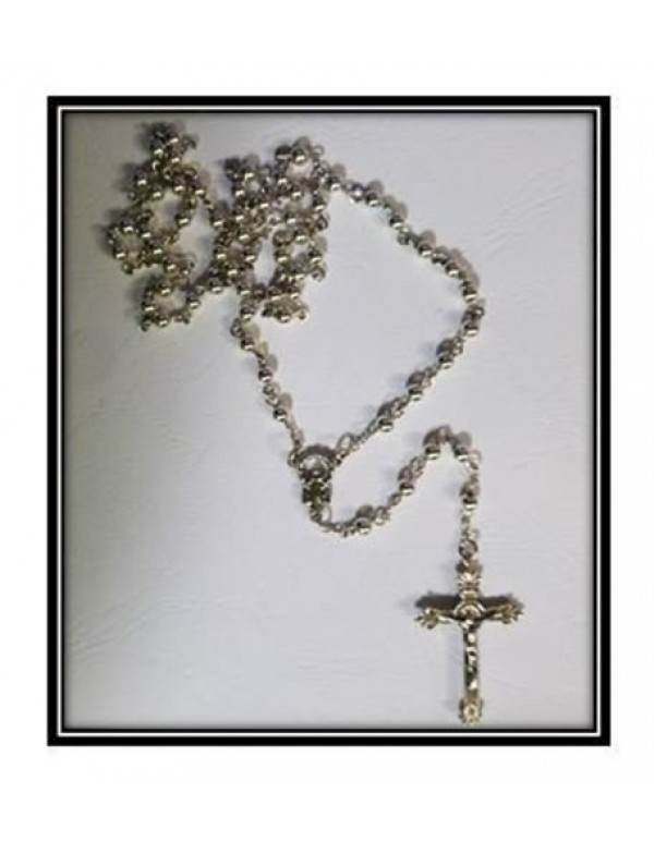 Sterling Silver 5mm Flowing Rosary