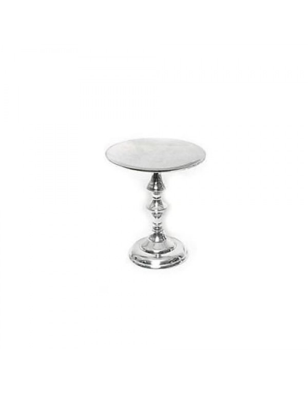 24cm tall x 21cm wide  Flat topped - Silver Altar Candle holder