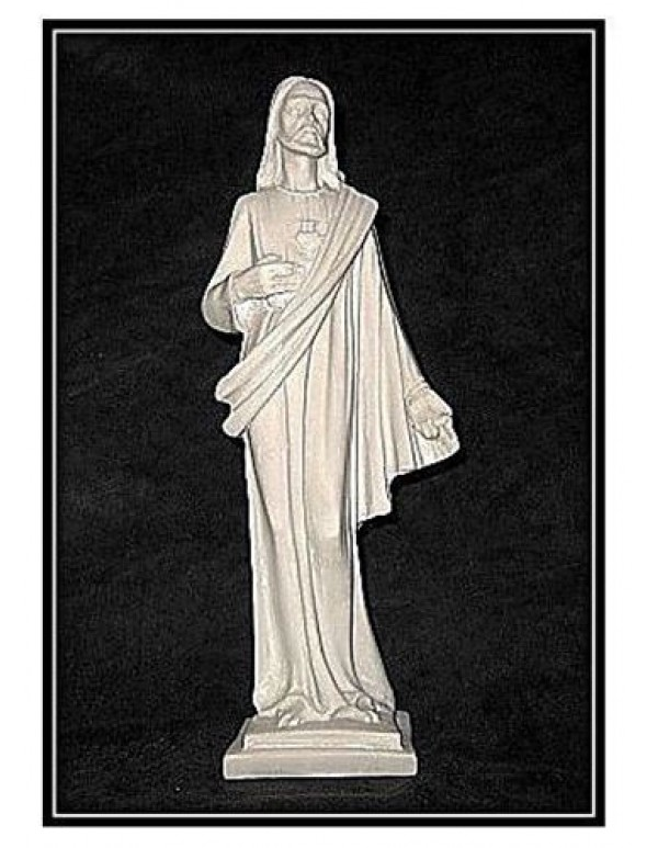 26cm Our Lord the Sacred Heart Marble Statue
