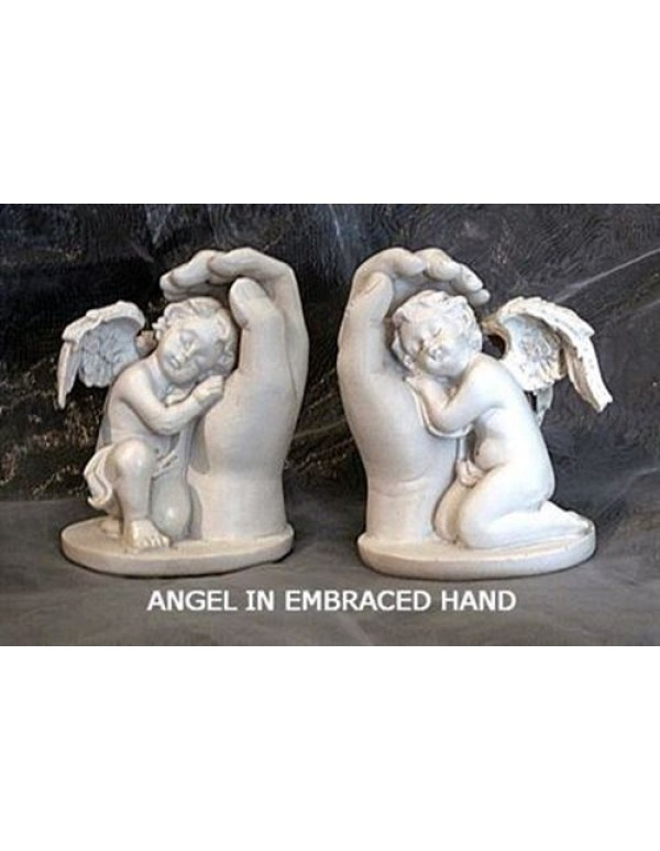 10cm Angel in Hand - Marble Statue - Left or Right