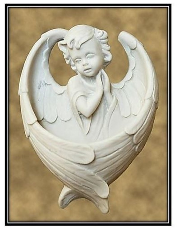 Child Angel Holy Water Font in Marble