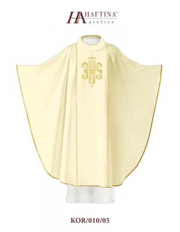 Haftina Polish Chasuble - All colours -  JHS with golden Cross