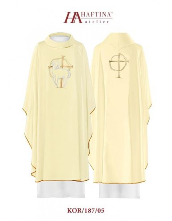 Haftina Polish Chasuble - All colours - Cross & Lamb of God Design
