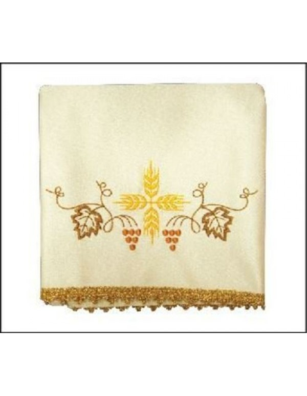 Chalice Veil Set of 4, includes all  the Liturgical colours - Cross & Vines