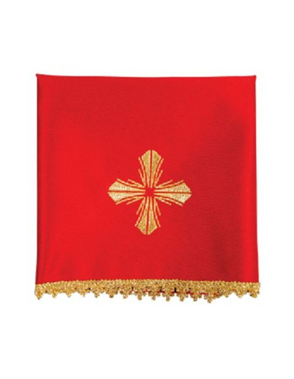 Chalice Veil Set of 4, includes all  the Liturgical colours - Ornate gold cross