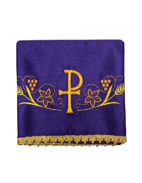 Chalice Veil Set of 4, includes all  the Liturgical colours - PX with vines & Wheat
