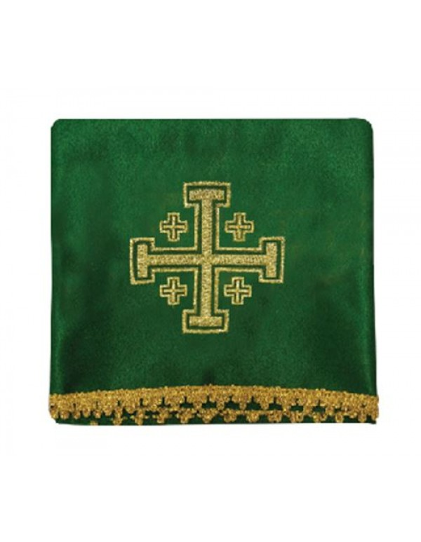 Chalice Veil Set of 4, includes all  the Liturgical colours - Jerusalem Cross