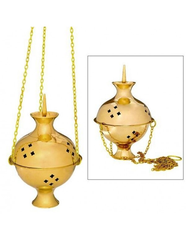 3 Chain, Solid Brass Thurible