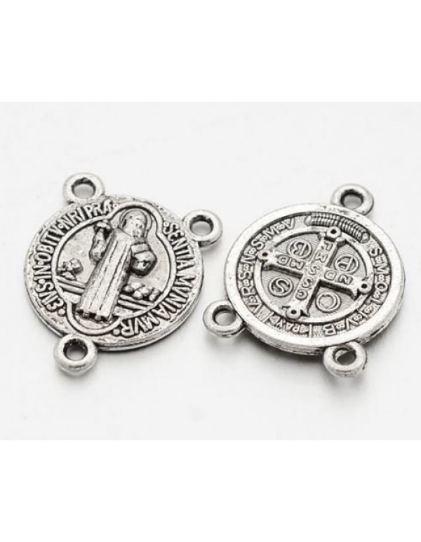17mm St Benedict Silver Center Piece