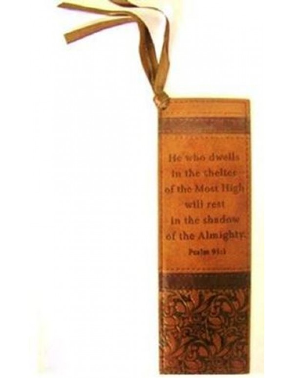 Lux  Leather Bookmark - He who dwells in the Shelter - Ps: 91:1