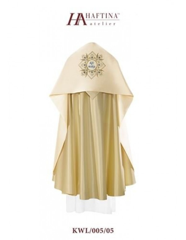 Humeral Veil - Ave Maria in  Ornate  scroll on Cream