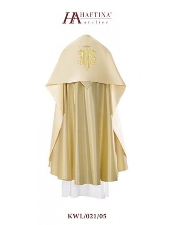 Humeral Veil - JHS in gold on Cream