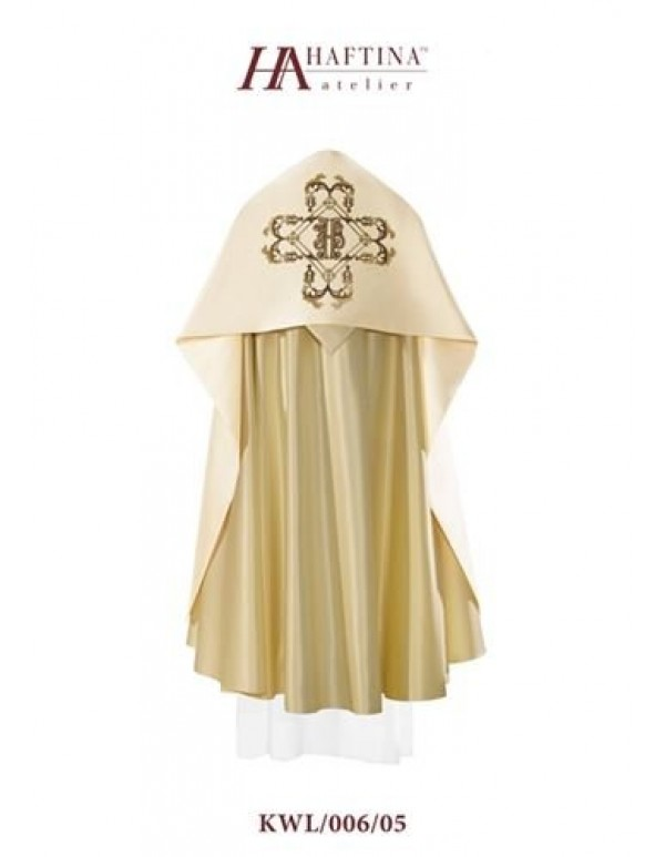 Humeral Veil - JHS  in  Ornate golden Cross on Cream