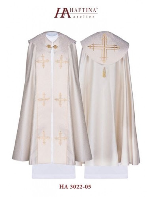 Cope/ Pluvial  - Gown in Cream with Gold Cross