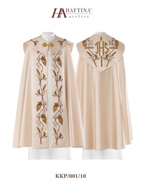 Cope/ Pluvial  - Gown in all liturgical colours with JHS at Back with Vines & Grapes on panels