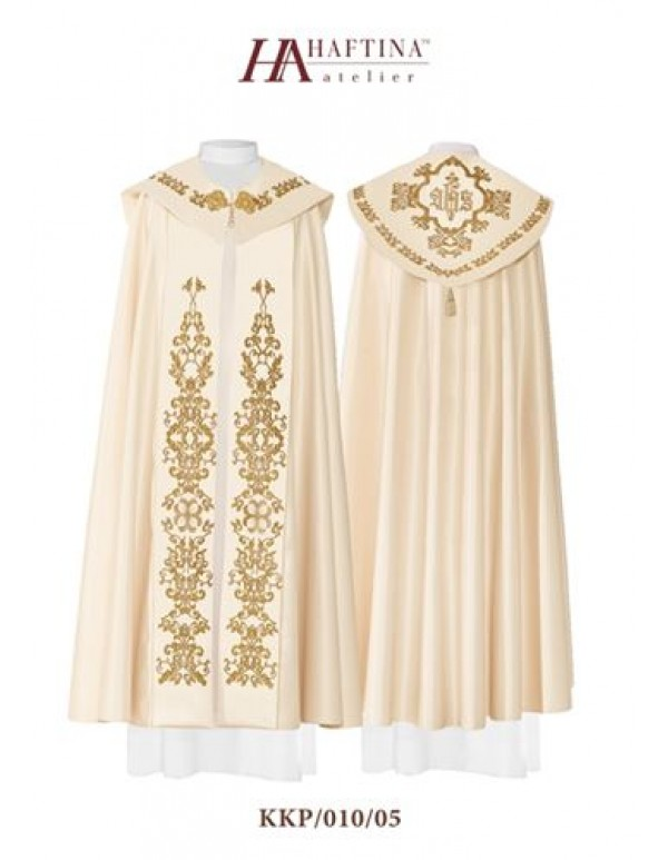Cope/ Pluvial  - Gown in all liturgical colours with IHS at Back with Ornate Scrolls