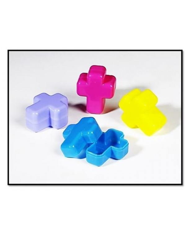 Cross Rosary / Medal Trinket Box - in 4 colours